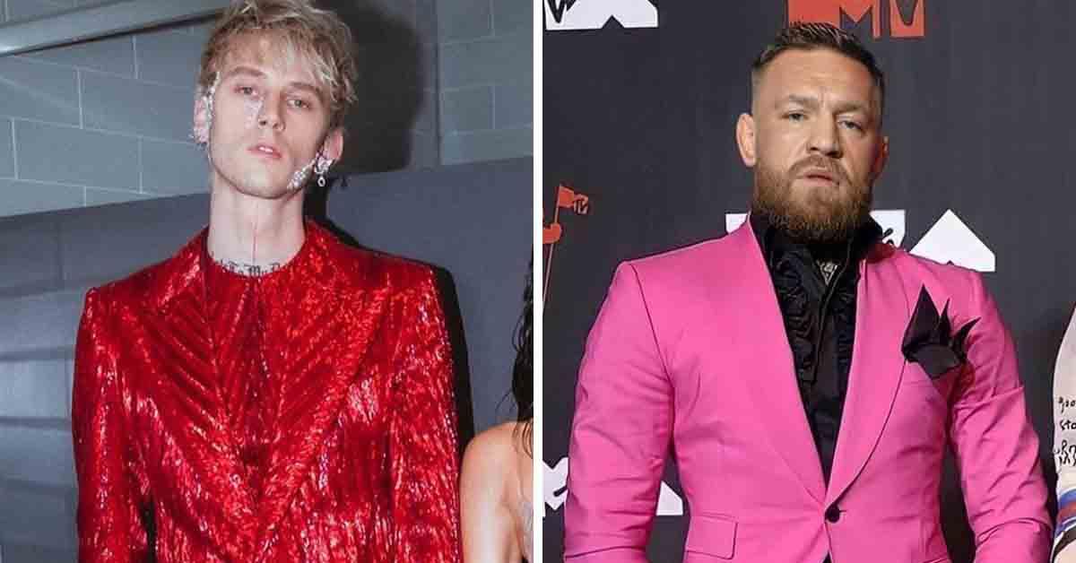 Conor McGregor e Machine Gun Kelly se estranham em premiação