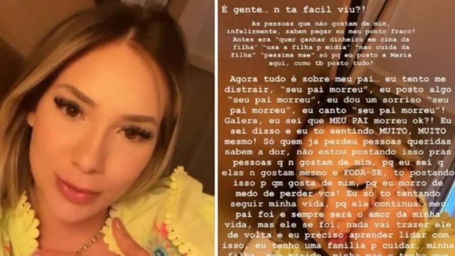 Virginia Fonseca sobre críticas a dancinha após morte do pai: 'Fod*-se'