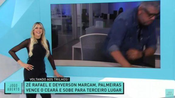 Jornalista de Minas fica na bronca ao ser zoado, 'abandona' o Jogo Aberto