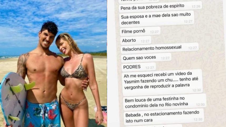 Mãe de Medina compara Yasmin Brunet a 'atriz pornô' e colunista divulga conversa