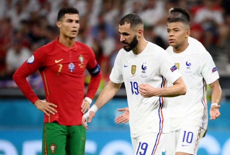 """França lidera """"grupo da morte"""" na Euro; Portugal e Alemanha também avançam"""