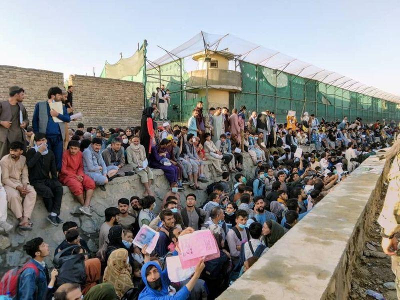 O colapso dos refugiados do Afeganistão